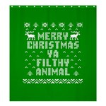 Ugly Christmas Ya Filthy Animal Shower Curtain 66  x 72  (Large)  58.75 x64.8 Curtain