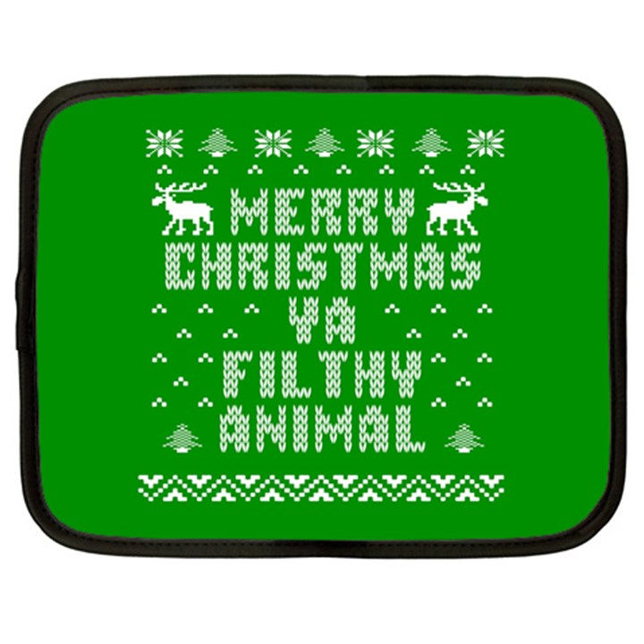 Ugly Christmas Ya Filthy Animal Netbook Case (XXL)