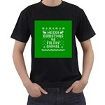 Ugly Christmas Ya Filthy Animal Men s T-Shirt (Black) Front