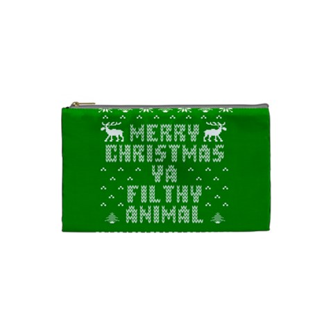Ugly Christmas Ya Filthy Animal Cosmetic Bag (Small)