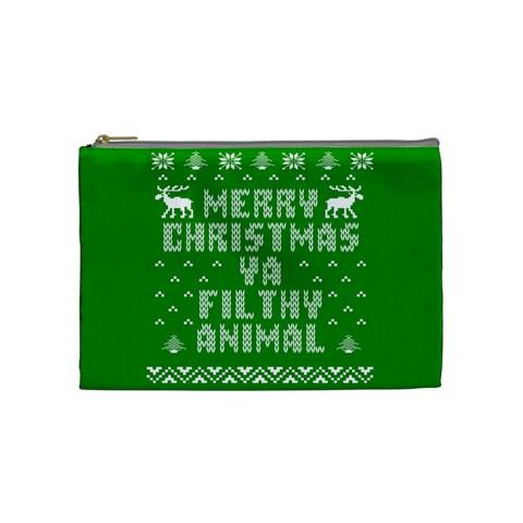 Ugly Christmas Ya Filthy Animal Cosmetic Bag (Medium)
