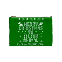 Ugly Christmas Ya Filthy Animal Cosmetic Bag (medium)