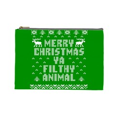 Ugly Christmas Ya Filthy Animal Cosmetic Bag (large)