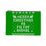 Ugly Christmas Ya Filthy Animal Cosmetic Bag (Large)  Front