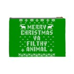 Ugly Christmas Ya Filthy Animal Cosmetic Bag (Large)  Back