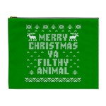 Ugly Christmas Ya Filthy Animal Cosmetic Bag (XL) Front