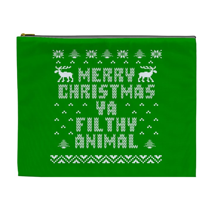 Ugly Christmas Ya Filthy Animal Cosmetic Bag (XL)