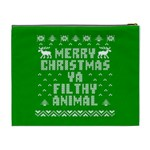 Ugly Christmas Ya Filthy Animal Cosmetic Bag (XL) Back