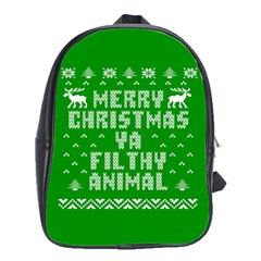 Ugly Christmas Ya Filthy Animal School Bags(Large)