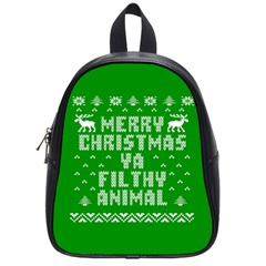 Ugly Christmas Ya Filthy Animal School Bags (Small)
