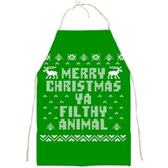 Ugly Christmas Ya Filthy Animal Full Print Aprons