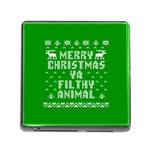 Ugly Christmas Ya Filthy Animal Memory Card Reader (Square) Front