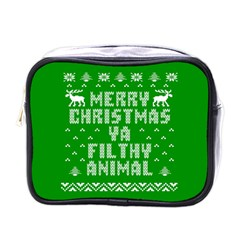 Ugly Christmas Ya Filthy Animal Mini Toiletries Bags
