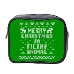 Ugly Christmas Ya Filthy Animal Mini Toiletries Bag 2 Side