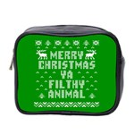 Ugly Christmas Ya Filthy Animal Mini Toiletries Bag 2-Side Front