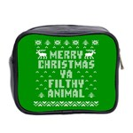 Ugly Christmas Ya Filthy Animal Mini Toiletries Bag 2-Side Back
