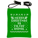 Ugly Christmas Ya Filthy Animal Shoulder Sling Bags Front