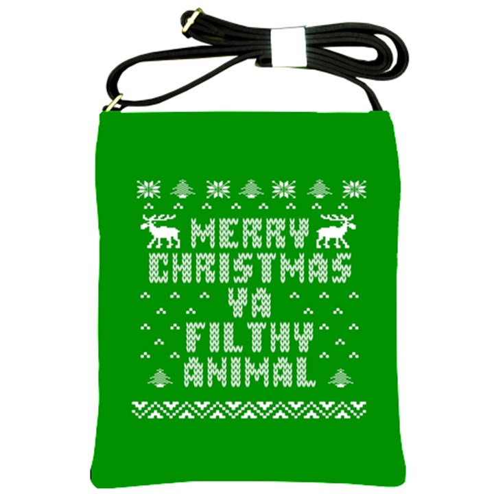 Ugly Christmas Ya Filthy Animal Shoulder Sling Bags
