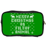 Ugly Christmas Ya Filthy Animal Toiletries Bags Front