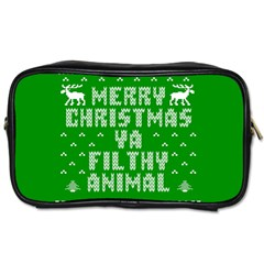 Ugly Christmas Ya Filthy Animal Toiletries Bags 2 Side
