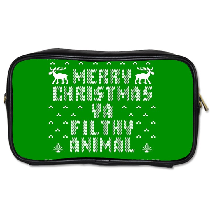 Ugly Christmas Ya Filthy Animal Toiletries Bags 2-Side