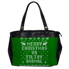 Ugly Christmas Ya Filthy Animal Office Handbags