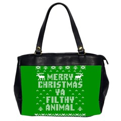 Ugly Christmas Ya Filthy Animal Office Handbags (2 Sides)