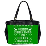 Ugly Christmas Ya Filthy Animal Office Handbags (2 Sides)  Back