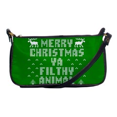 Ugly Christmas Ya Filthy Animal Shoulder Clutch Bags