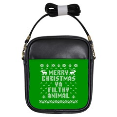 Ugly Christmas Ya Filthy Animal Girls Sling Bags