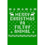 Ugly Christmas Ya Filthy Animal 5.5  x 8.5  Notebooks Front Cover Inside