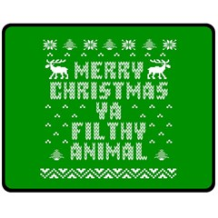 Ugly Christmas Ya Filthy Animal Fleece Blanket (Medium)