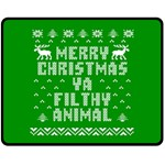 Ugly Christmas Ya Filthy Animal Fleece Blanket (Medium)  60 x50 Blanket Front