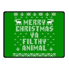 Ugly Christmas Ya Filthy Animal Fleece Blanket (Small)