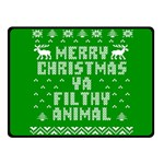 Ugly Christmas Ya Filthy Animal Fleece Blanket (Small) 50 x40 Blanket Front