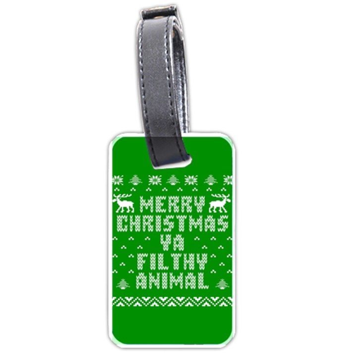 Ugly Christmas Ya Filthy Animal Luggage Tags (Two Sides)