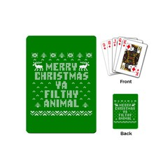 Ugly Christmas Ya Filthy Animal Playing Cards (Mini)
