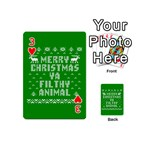 Ugly Christmas Ya Filthy Animal Playing Cards 54 (Mini)  Front - Heart3