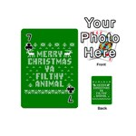 Ugly Christmas Ya Filthy Animal Playing Cards 54 (Mini)  Front - Club7