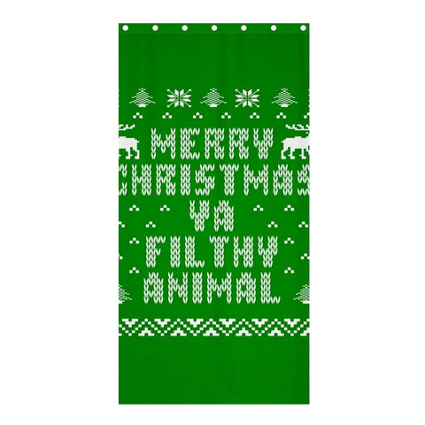 Ugly Christmas Ya Filthy Animal Shower Curtain 36  x 72  (Stall)