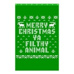Ugly Christmas Ya Filthy Animal Shower Curtain 48  x 72  (Small)  42.18 x64.8 Curtain