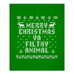 Ugly Christmas Ya Filthy Animal Shower Curtain 60  x 72  (Medium)  54.25 x65.71 Curtain
