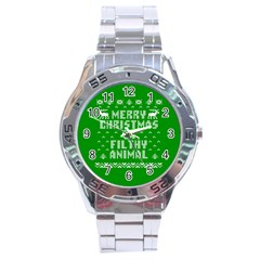 Ugly Christmas Ya Filthy Animal Stainless Steel Analogue Watch