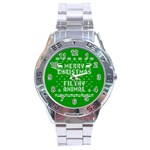 Ugly Christmas Ya Filthy Animal Stainless Steel Analogue Watch Front