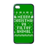Ugly Christmas Ya Filthy Animal Apple iPhone 4 Case (Black) Front