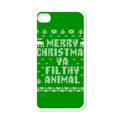 Ugly Christmas Ya Filthy Animal Apple iPhone 4 Case (White)