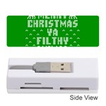 Ugly Christmas Ya Filthy Animal Memory Card Reader (Stick)  Front