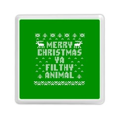 Ugly Christmas Ya Filthy Animal Memory Card Reader (Square)
