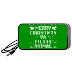 Ugly Christmas Ya Filthy Animal Portable Speaker (Black)