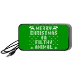 Ugly Christmas Ya Filthy Animal Portable Speaker (Black)  Front